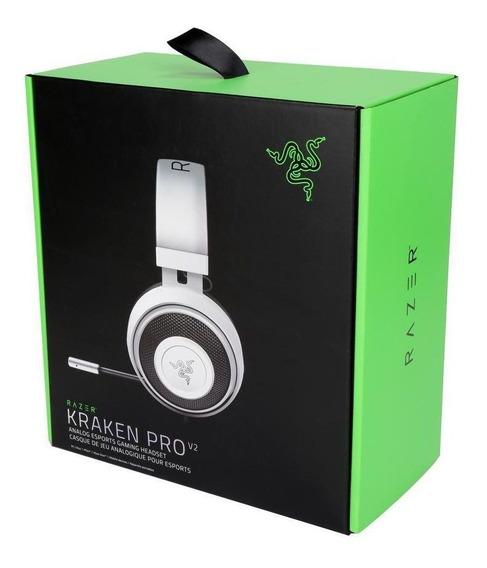 Headset Razer Kraken Pro V2 Branco Oval - Ps4 / Xbox One