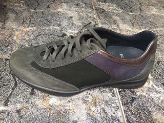 Prada Sneakers Piel De Cabra Color Grafito