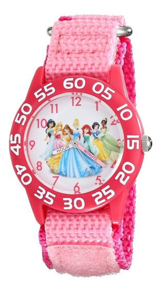Reloj Princesa Disney Banda De Nylon Rosa Resistente Al Agua