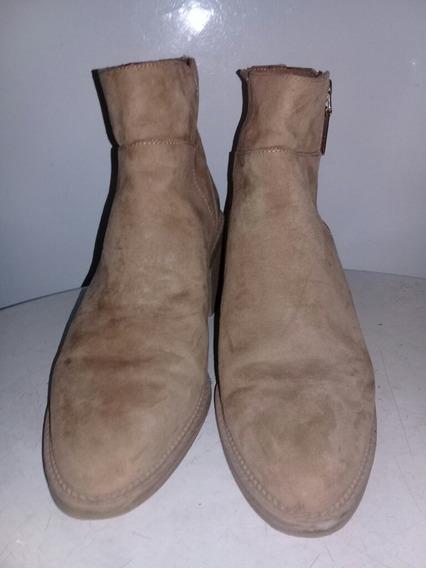 Botas De Cuero Color Marron Nro.40