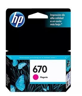 Cartuchos Hp 670-original Magenta Ink Advantage