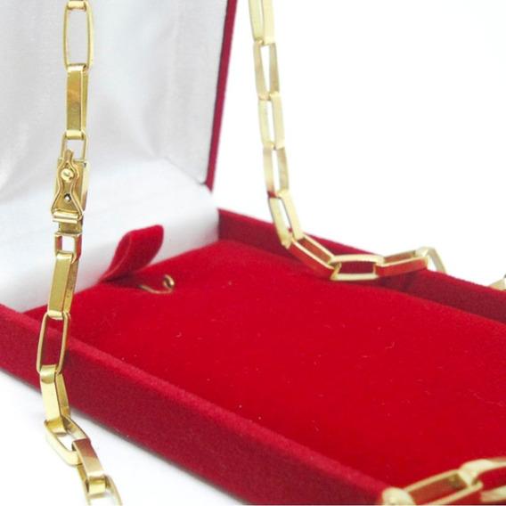 Cordão Tijolinho Ouro 18k 750 Maciço Corrente 20 Gramas 60cm