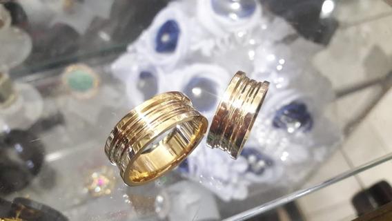 Alianças Modelo Veneziano Em Ouro 18 Quilates