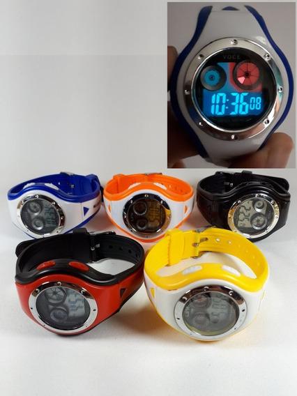 Relógios Digital Infantil Crianças Led Luz Noturna (11 Und)