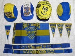 Coleccion Bandera Vincha Banderin Gorra Boca Juniors Bj05