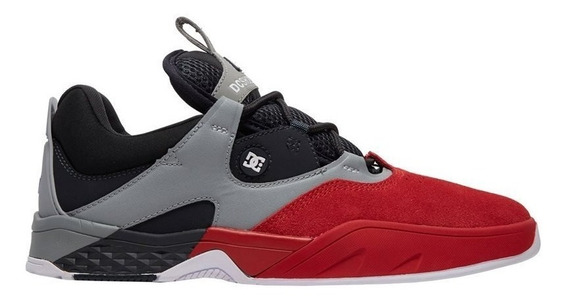Tênis Dc Shoes Kalis S Imp Red Black Grey Original