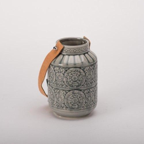 Imagen 1 de 4 de Candelero Ceramica Verde Ch - Verde Këssa Muebles
