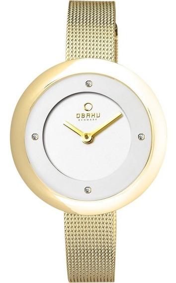 Reloj Obaku V162lxgimg Acero Dorado-blanco Con Zirconias