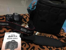 Canon 600d T3i C/lente Do Kit Bolsa E Cartão Memória Brinde