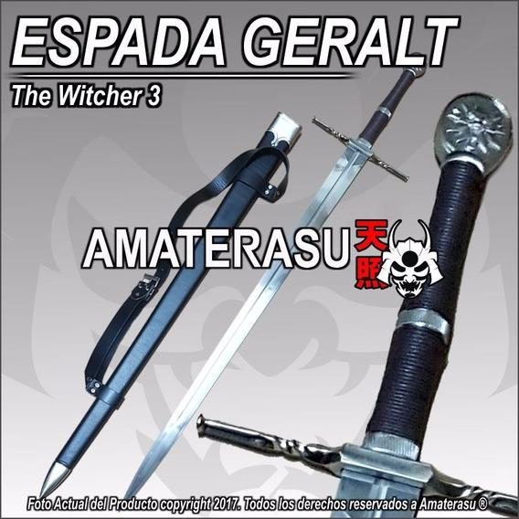 Espada De Acero Geralt De Rivia The Witcher 3 Con Vaina