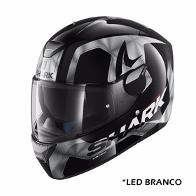 Capacete Shark Skwal Led Trion Chrome Kua