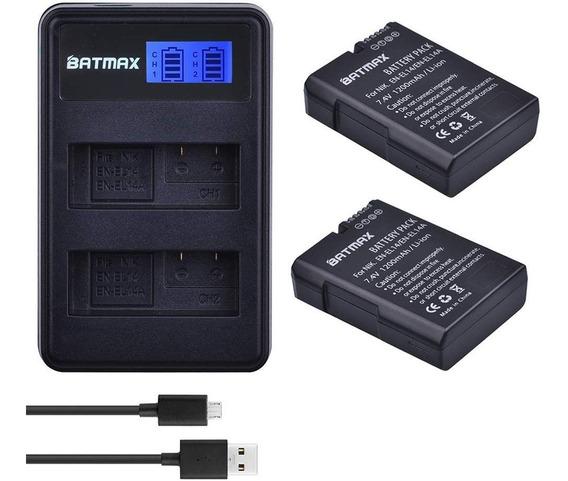 2x Baterias En-el14 1100mah + Carregador Duplo Nikon D5600