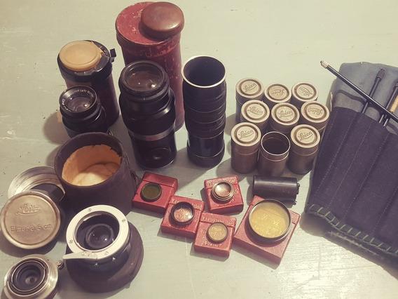 Conjunto De Acessórios Para Câmeras Leica Antiga