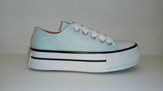 Zapatillas Con Plataforma, Couce Niña Lona