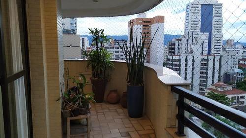 Apartamento À Venda, 225 M² Por R$ 1.280.000,00 - Vila Rica - Santos/sp - Ap5866