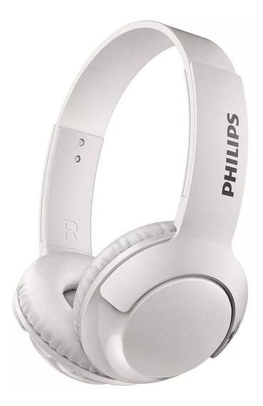 Fone Philips Sem Fio Bluetooth On-ear Bass+ Shb3075wt/00