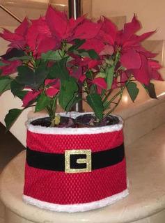 Liquidacion Cinto Santa Claus Par Maceta D Navidad