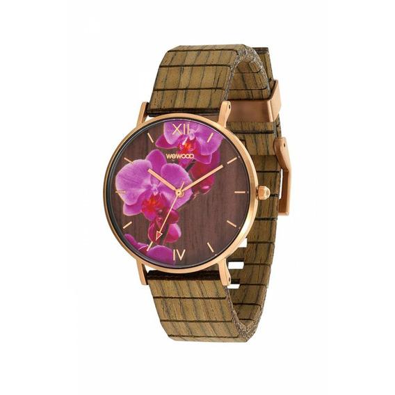Relógio De Madeira Wewood Aurora - Wwau03