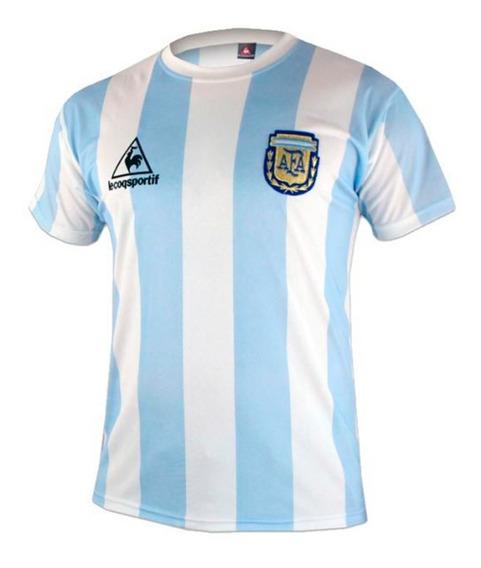 Camiseta Argentina Mexico 86 Reedicion Titular Maradona