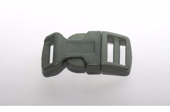 200-fecho Rápido Curvo 20mm Preto P/pulseira Paracord