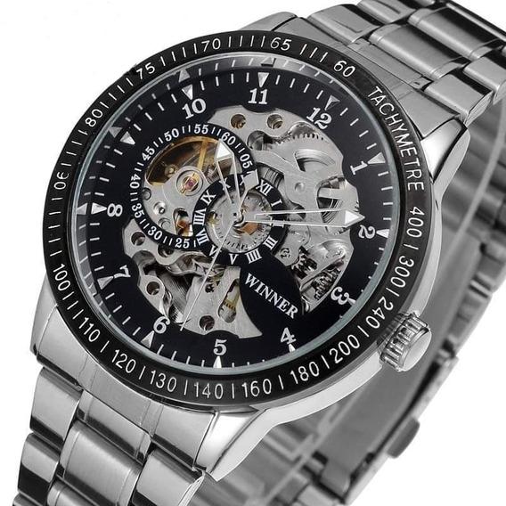 Reloj Mecanico Automático Skeleton + Envio Gratis