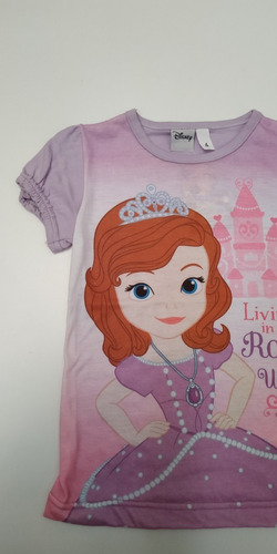 Remera Princesa Sofia Infantil Talle 4 Original Disney