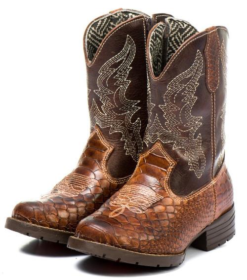 Bota Texana Country Infantil 100% Couro Menino Oferta Outlet