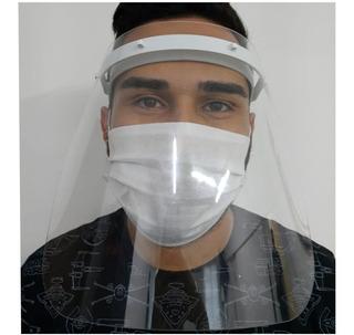 Máscara Proteção Facial Tnt - Viseira Plástica Anti Respingo