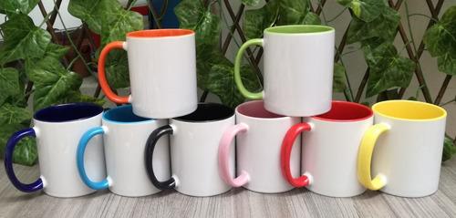 15 Mugs Color Interno Y Oreja Surtidos