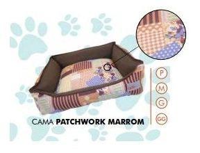 Cama Premium Patchwork Marrom Gg