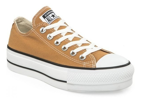 Zapatillas Converse All Star Plataforma Ocre Exclusiva Dama