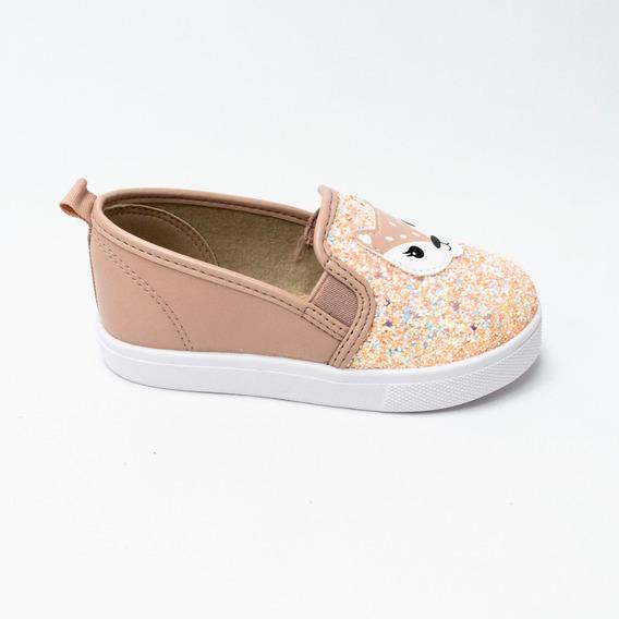 Sapato Molekinha 2118.124 Napa Turim Com Glitter