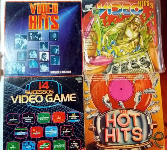 Vinil Vídeo Hits 4 E 3 / Hot Hits / 14 Sucessos Internaciona