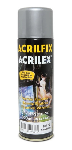 Verniz Spray Acrilex Acrilfix Semibrilho 300ml