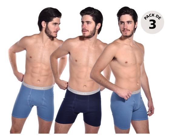Pack 3 Boxer Hanes 7965 Azul Mar/negr