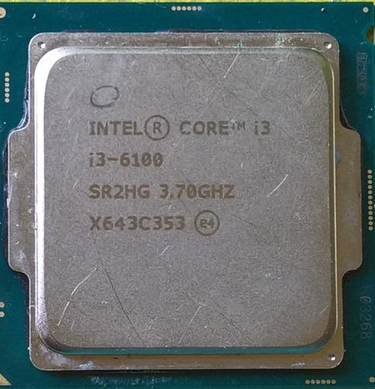 Processador Intel Core I3-6100, Cache 3mb 3,7ghz Lga 1151