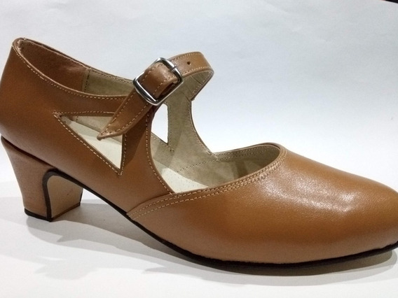 Zapatos De Danza - Tango, Jazz, Español Y Folclore.-camel