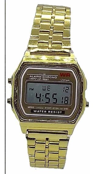 Relógio Retrô Vintage Classico Dourado Unissex Relogio
