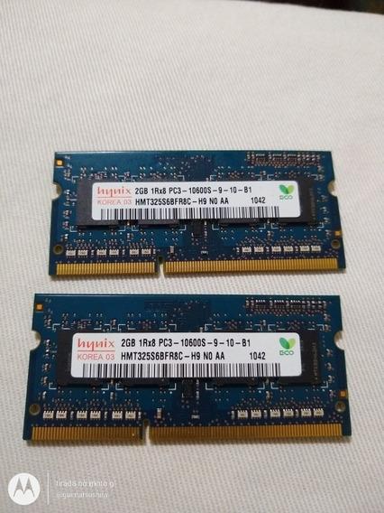 Memória 2gb Pc3 10600s 1rx8 Para Notebook