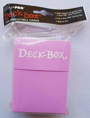 Ultra Pro Deck Box Color Solido Rosa - Pink
