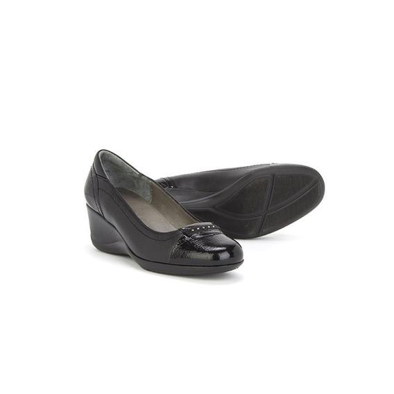 Mocasin Zapatos Onena 1451 Negro Damas Piel