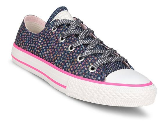 Zapatillas Converse All Star Azul Rosa Precio Especialbrillo
