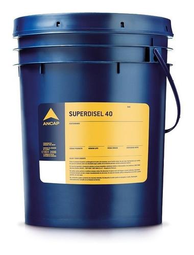 Aceite Diesel Ancap Superdisel 40 Balde 20 Lts Lubricante