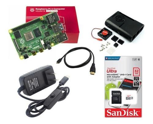 Imagen 1 de 1 de Kit De Raspberry Pi 4 - 4gb Ram - Lite