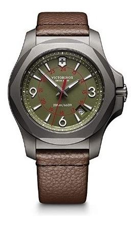 Relogio Victorinox Swiss Army Inox Marrom/verde/militar Titã