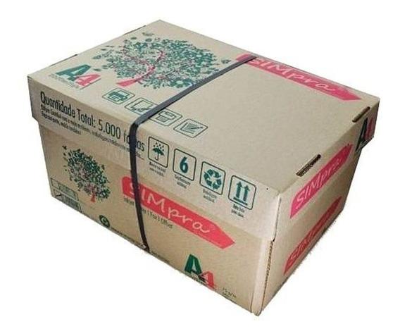 Caixa Com 10 Pacotes De Papel Sulfite Simpra
