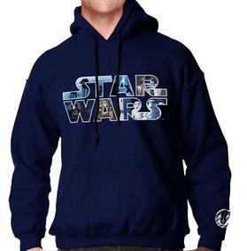 Sudadera Hoodie Star Wars Logo La Fuerza Todas Las Tallas