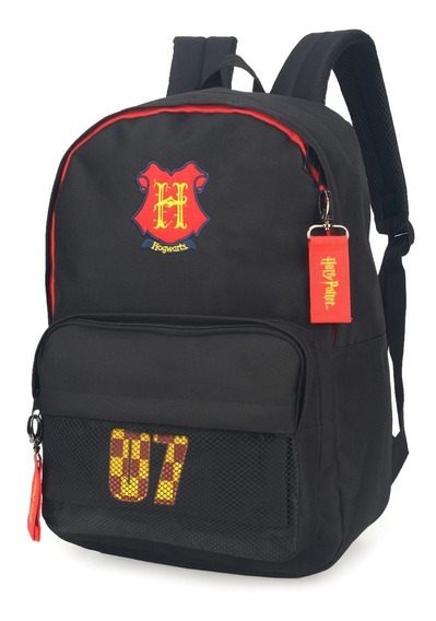 Mochila Feminina Juvenil Harry Potter Com Estojo Ms45644hp