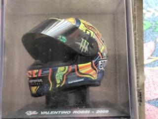 Miniatura Capacete Valentino Rossi 2009 1/5 Motogp Yamaha
