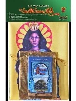 Toalha De Santa Sara + Baralho 36 Cartas- Gratis Um Mini Ba